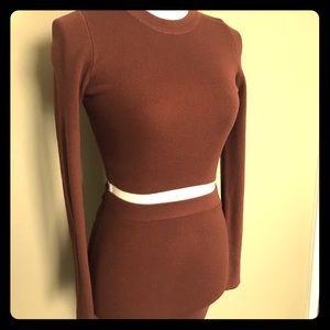 naked wardrobe Dresses - NWOT Naked Wardrobe 2 piece Ribbed Bodycon Set
